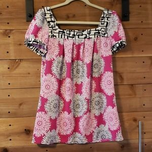 Sunny Leigh Back to the Future Peony Top NWT